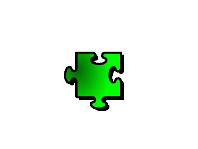 Jigsaw Green 11 Shape