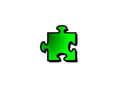 Jigsaw Green 12 Shape