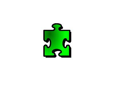 Jigsaw Green 13 Shape