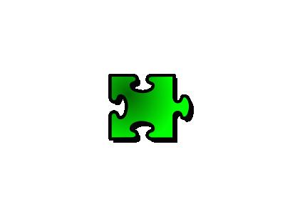 Jigsaw Green 14 Shape