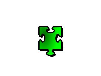 Jigsaw Green 15 Shape