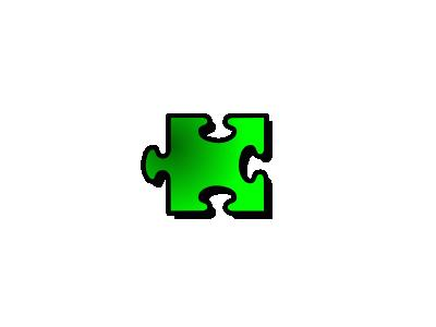 Jigsaw Green 16 Shape