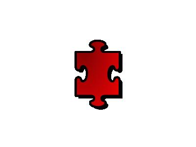 Jigsaw Red 01 Shape