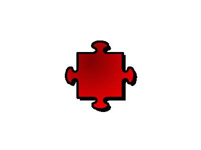 Jigsaw Red 04 Shape