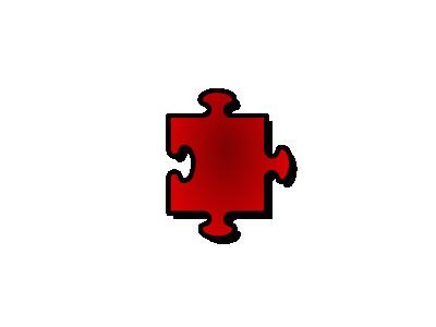 Jigsaw Red 05 Shape