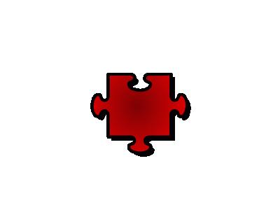 Jigsaw Red 06 Shape