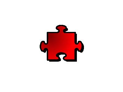 Jigsaw Red 08 Shape