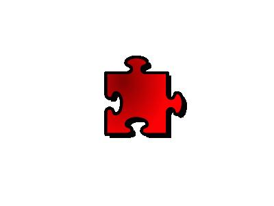 Jigsaw Red 09 Shape