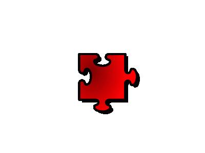 Jigsaw Red 10 Shape