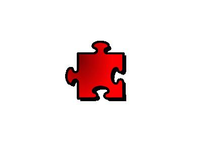 Jigsaw Red 12 Shape