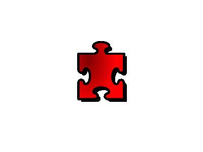 Jigsaw Red 13 Shape