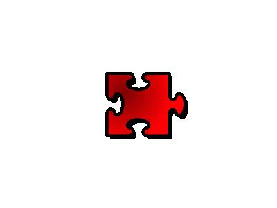 Jigsaw Red 14 Shape