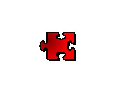 Jigsaw Red 16 Shape