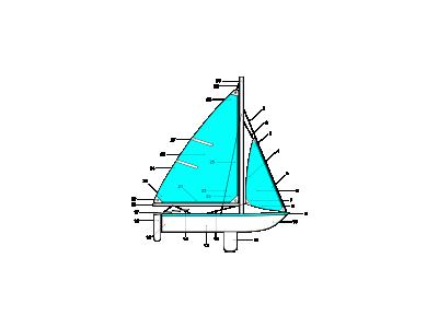 Sailboat Illustration Labels Transport