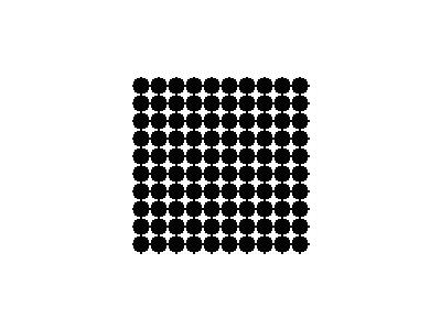 Pattern Dots Square Grid 09 Special