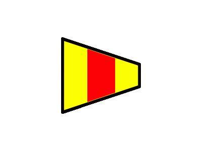 Signalflag 0 Symbol