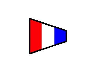 Signalflag 3 Symbol