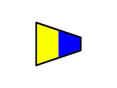 Signalflag 5 Symbol