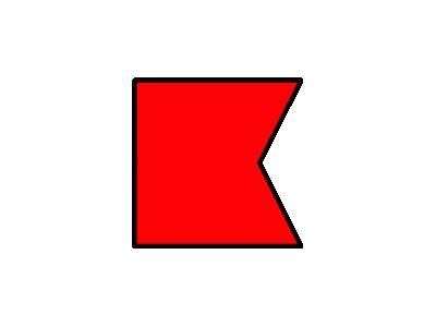 Signalflag Bravo Symbol