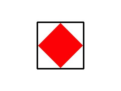 Signalflag Foxtrot Symbol