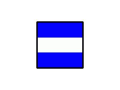 Signalflag Juliet Symbol