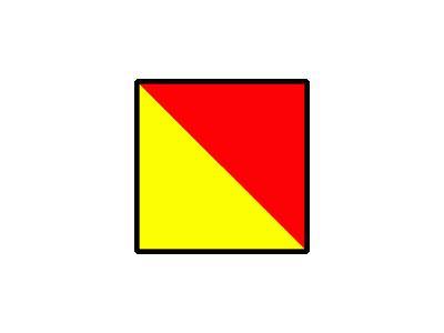 Signalflag Oscar Symbol