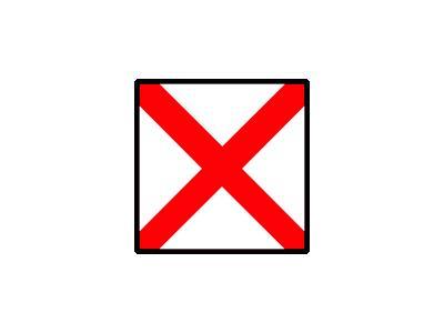 Signalflag Victor Symbol