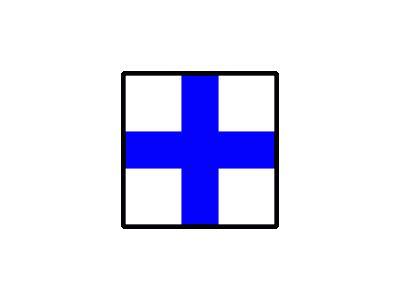 Signalflag Xray Symbol