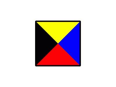 Signalflag Zulu Symbol