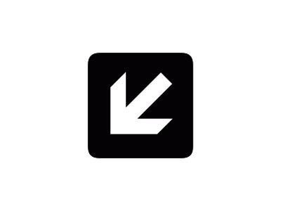 Aiga Left And Down Arrow1 Symbol