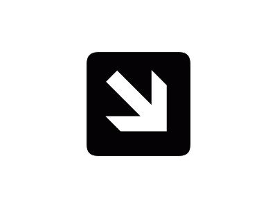 Aiga Right And Down Arrow1 Symbol