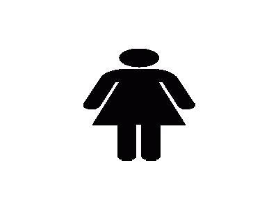 Aiga Toilet Women  Symbol