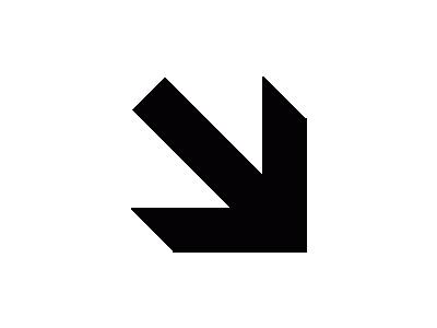 Aiga Right And Down Arrow  Symbol