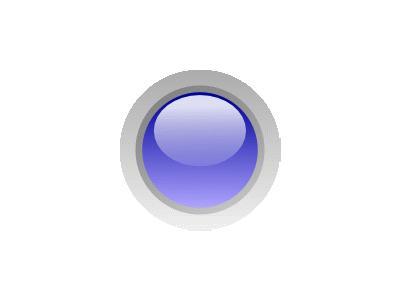 Led Circle Blue Symbol