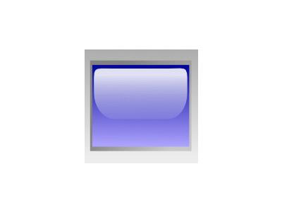 Led Rectangular H Blue Symbol