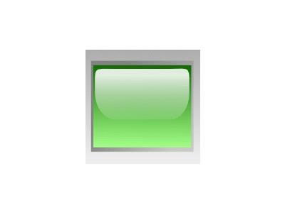 Led Rectangular H Green Symbol