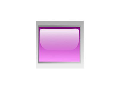 Led Rectangular H Purple Symbol