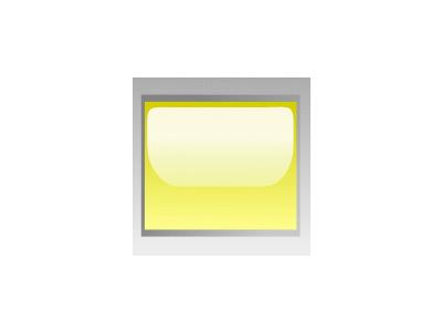 Led Rectangular H Yellow Symbol