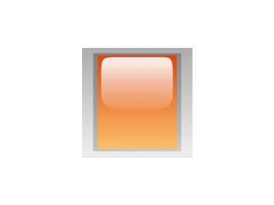 Led Rectangular V Orange Symbol