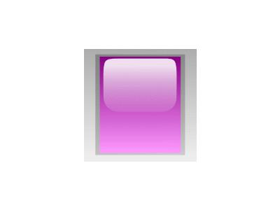 Led Rectangular V Purple Symbol