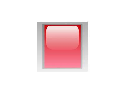 Led Rectangular V Red Symbol
