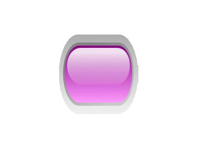 Led Rounded H Purple Symbol