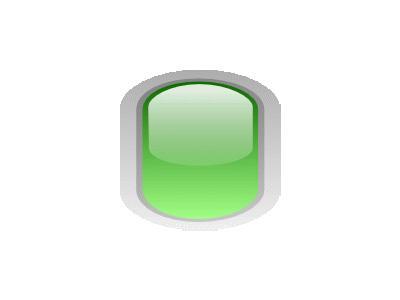 Led Rounded V Green Symbol