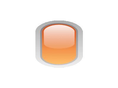 Led Rounded V Orange Symbol