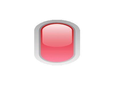 Led Rounded V Red Symbol
