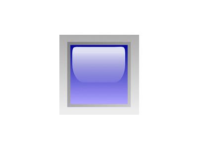 Led Square Blue Symbol