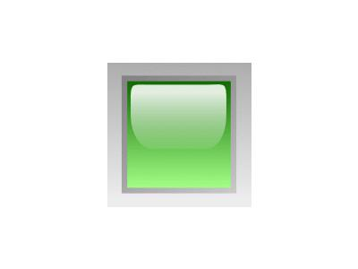 Led Square Green Symbol