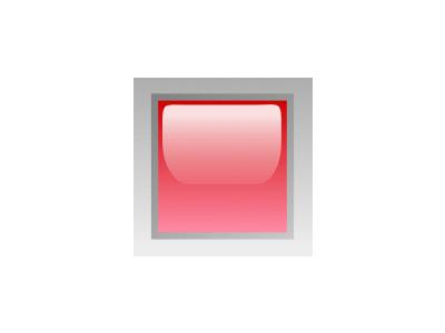 Led Square Red Symbol