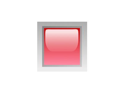 Led Square Red Symbol