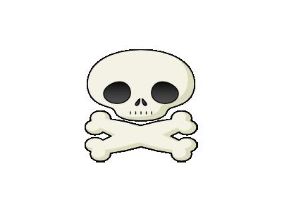 Cute Skull Fredrik Holmq 01 Symbol